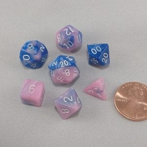 Dice Gemini Mini Myosotis Polyhedral Dice Set
