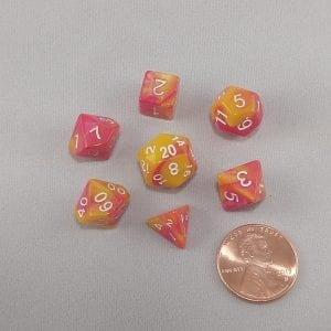 Dice Gemini Mini Sunglow Polyhedral Dice Set