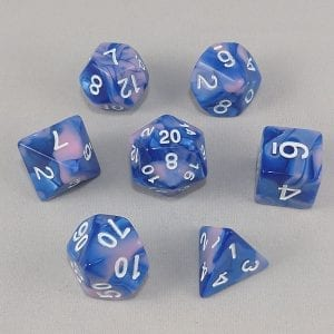 Dice Gemini Blue/Pink with White Numbers Dice