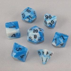 Dice Gemini Icy Track Polyhedral Dice Set
