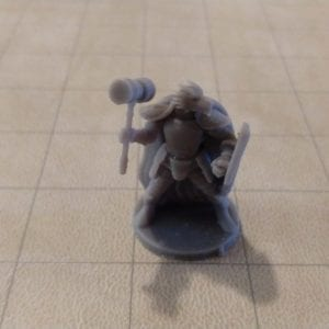 Adventurers/NPCs Dragonborn Fighter with Hammer and Shield