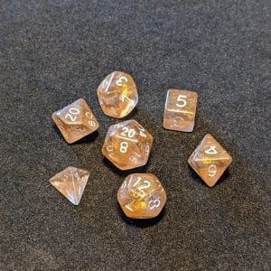 Handmade Dice Smoky Bronze Mini Dice Set