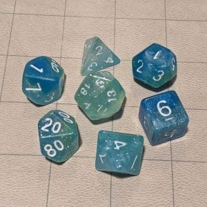 Dice Icy Ocean Dice Set (Glow)