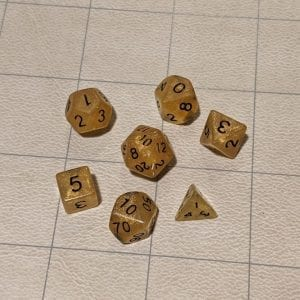Handmade Dice Goldie Mini Dice Set