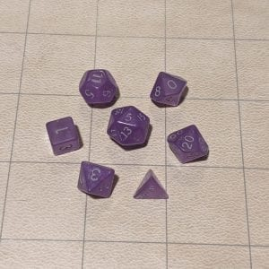 Handmade Dice Mystic Purple Mini Dice Set