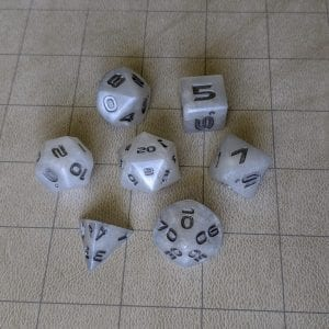 Handmade Dice Orc Tusk Edged Dice Set