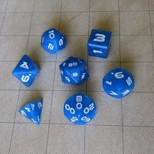 Handmade Dice Ocean Wave Edged Dice Set