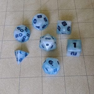 Handmade Dice Cloudy Sky Edged Dice Set