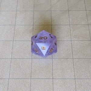 Jumbo Dice Purple Cloud Jumbo Edged D20