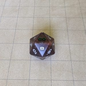 Jumbo Dice Abyss Purple Jumbo Edged D20