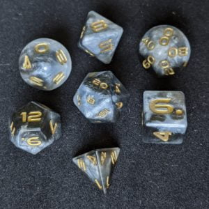 Handmade Dice Light and Dark Edged Dice Set