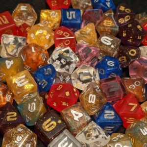 Custom Custom Mini Edged Polyhedral Dice Set