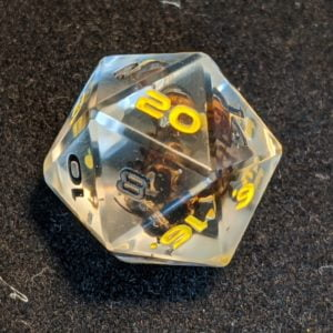 Handmade Dice Real Bee Edged D20