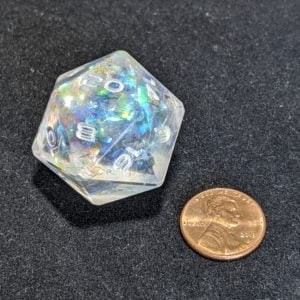 Jumbo Dice Ice Dragon Skin Jumbo Edged D20