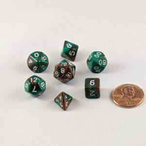 Dice Gemini Mini Camouflage Polyhedral Dice Set