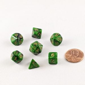 Dice Gemini Mini Marshland Polyhedral Dice Set