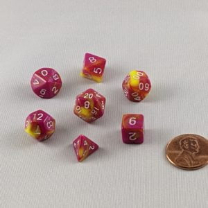 Dice Gemini Mini Candy Fable Polyhedral Dice Set