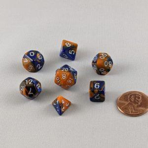 Dice Gemini Mini Hot Melt Polyhedral Dice Set