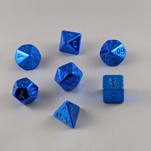 Dice Unpainted Raw Plated Glossy Blue Dice