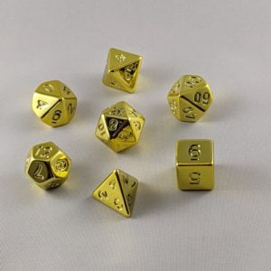 Dice Unpainted Raw Plated Golden Dice