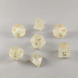 Dice Shimmery Rose-Golden Dice