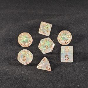 Dice Shimmery Bronze-Golden Dice