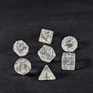Dice Unpainted Raw Plated Pearly Transparent Dice