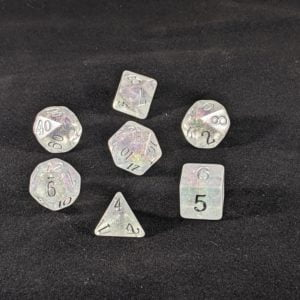 Dice Shimmery Silver-Purple Dice